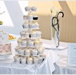 Wedding Butterfly Cake & Cupcakes Tower